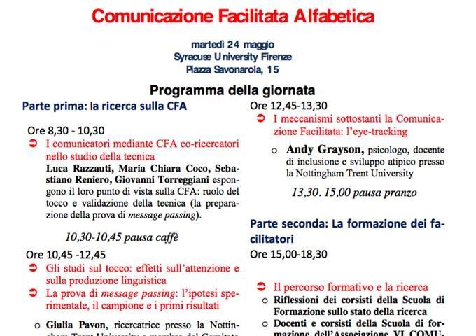 Convegno sulla CFA